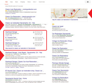 Sample search results - Google and the Google logo are registered trademarks of Google Inc., used with permission.